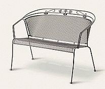 Elegance Wrought Iron 2 Seat Bench