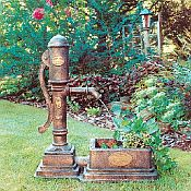 Village Pump Outdoor Fountain with Planter