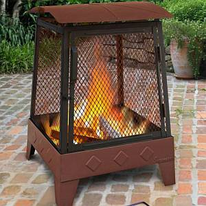 Haywood Diamond Embossed Fire Pit