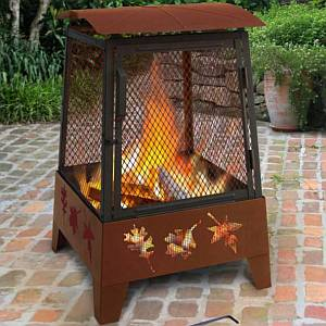 Haywood Tree Leaves Fire Pit