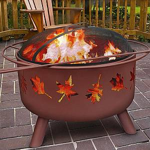 Georgia Clay Tree Leaves Outdoor Firepit