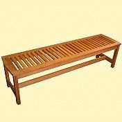 Serenity Backless Garden Bench<br>Hardwood