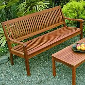 Serenity 5ft Garden Bench<br>Hardwood
