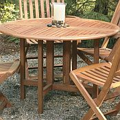 Celebration Drop-Leaf Round Table<br>Hardwood