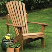 Lodge Adirondack Chair<br>Hardwood