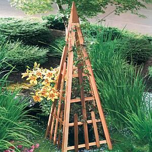 Cedar Pyramid Trellis - 81 inch