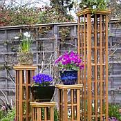 Trellis Column 20 Inch Garden Structure