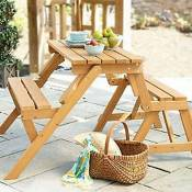Interchangeable Picnic Table or Garden Bench - MPG-ACT04