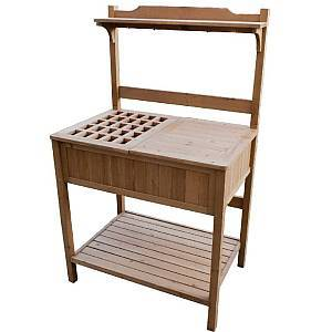 Potting Bench with Recessed Storage