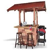 BBQ Tiki Style Hut Grill Station
