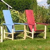 Stained Cedar Adirondack Chair - Adult