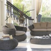 6 pc. Cayman Resin Wicker Furniture Set