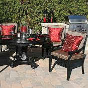 Moncler 4 Person Round Dining Set