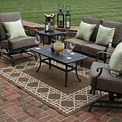 Herve 5 Piece Deep Seating Wicker Set