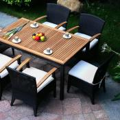 7 Pc Olivia Resin Wicker Dining Set