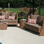 6 pc. Nadri-Resin Wicker Furniture Set