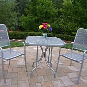 Oakland 3 Piece Mesh Outdoor Bistro Set