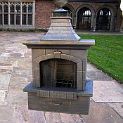 Gothic Outdoor Fireplace