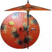 7ft Oriental Umbrella- Bamboo Forest
