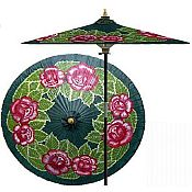 7ft Oriental Umbrella- Summer Roses