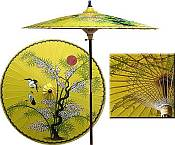 7ft Oriental Umbrella- Juniper Dream- Yellow