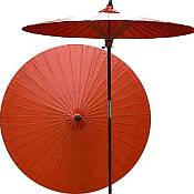 7ft Oriental Umbrella- Solid Orange