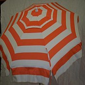 Patio & Beach Umbrella - Orange Stripe