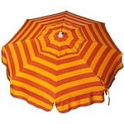 Patio & Beach Umbrella - Orange and Yellow Stripe
