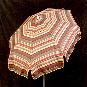 Patio & Beach Umbrella - Berry Stripe