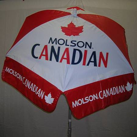 6ft Patio & Beach Umbrella / Molson Canadian