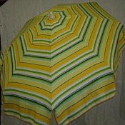 Patio & Beach Umbrella - Yellow & Green Stripe
