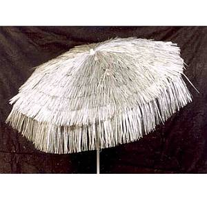 6ft Palapa Patio Umbrella- Silver - UPALS