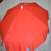 Patio & Beach Umbrella - Solid Red