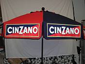 7 1/2 Foot Patio & Beach Beer Market Umbrella / Cinzano