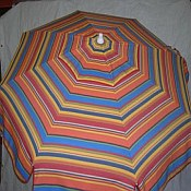 Patio & Beach Umbrella - Multi Stripe