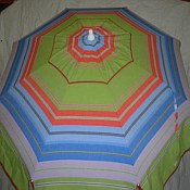 Patio & Beach Umbrella - Green & Blue Stripe