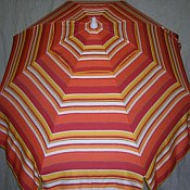 Patio & Beach Umbrella - Red & Orange Stripe