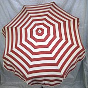 6ft Patio & Beach Umbrella - Pink Stripe