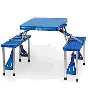 Folding Picnic Table w/ 4 Seats