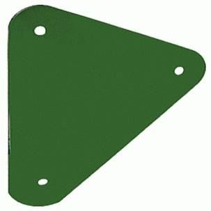 Triangle Green Steel Monkey Bar Plate