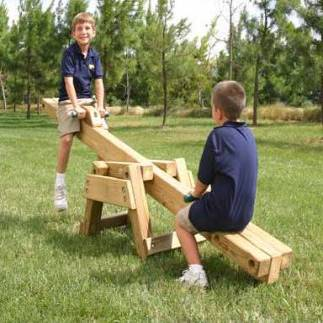 Wooden Seesaw / Teeter Totter Kit