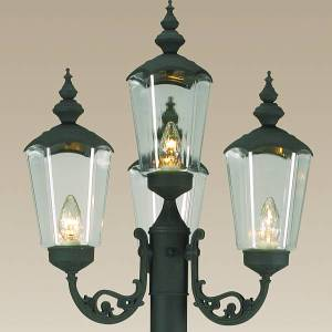 Replacement Globes for Cambridge Four Lantern Park Style Patio Lamp