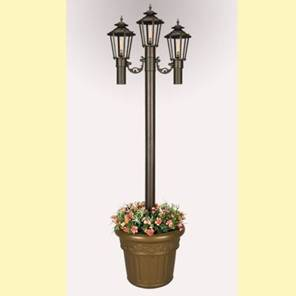 Williamsburg Bronze Citronella Park Planter Lanterns