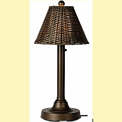 Tahiti II 30in. Wicker Patio Table Lamp