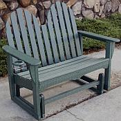 48in Glider Bench <br>Recycled Plastic