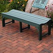 Traditional Backless Bench<br>Recycled Plastic