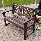 Chippendale 48 Inch Garden Bench by Polywood