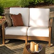Club Mission Settee<br>Recycled Plastic