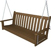 Vineyard 60in Porch Swing<br>Recycled Plastic