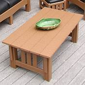 Mission Coffee Table<br>Recycled Plastic